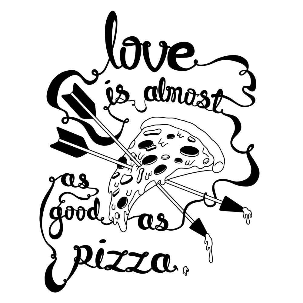 Pizza Love Print