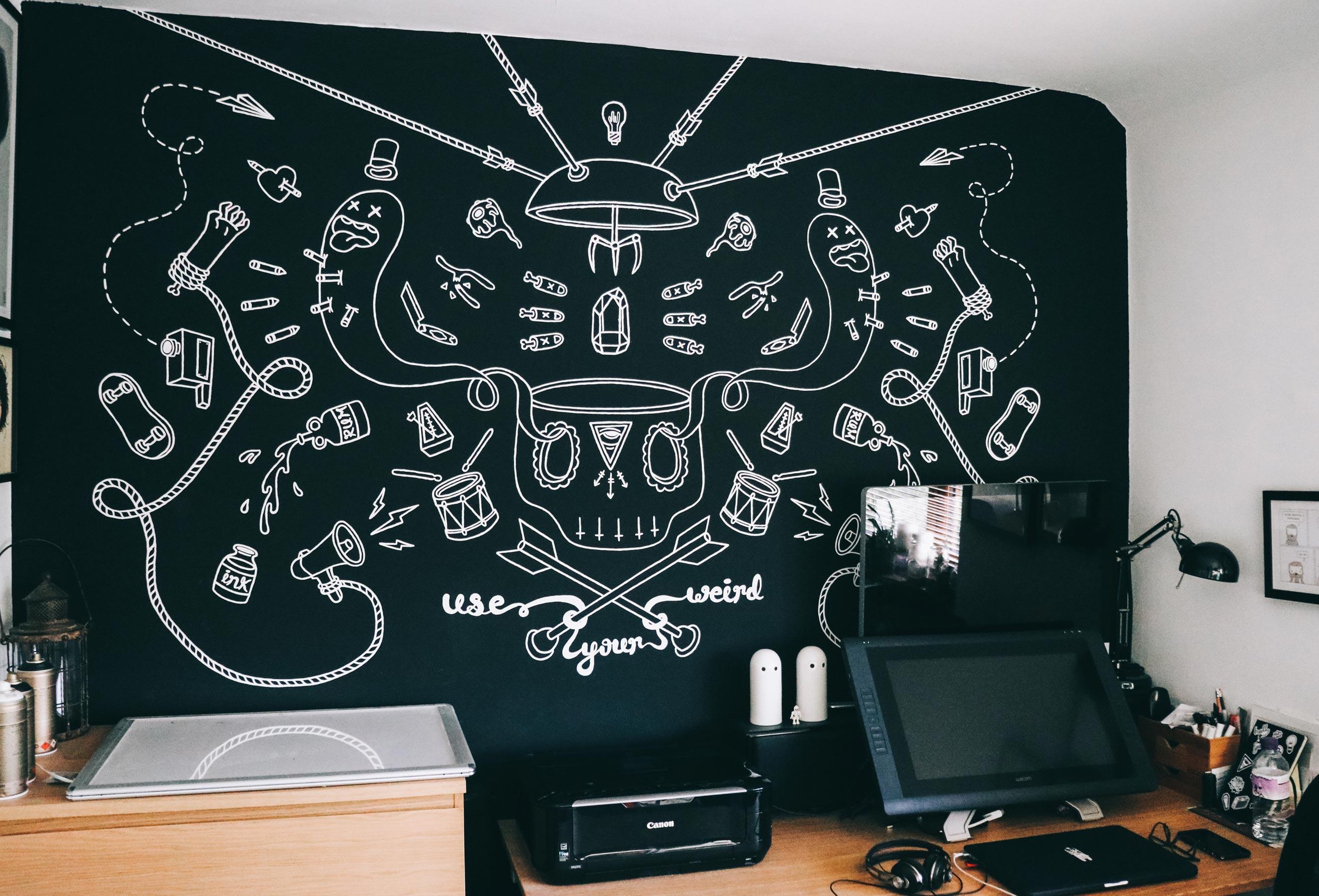 Use Your Weird Mural